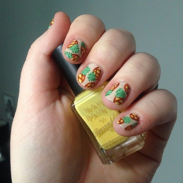 @nnmnails on Instagram: pineapple nail art