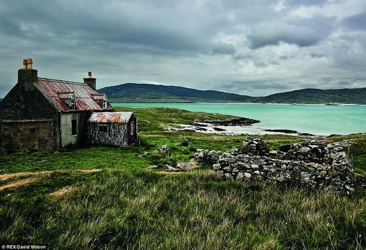 Abandoned: A derelict house on the Isle of Eriskay as shown in the new book. Hebrides is published this week by Quercus, priced £20