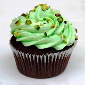 Cupcakes de Pistacho y chocolate - Recetas de cupcakes fáciles