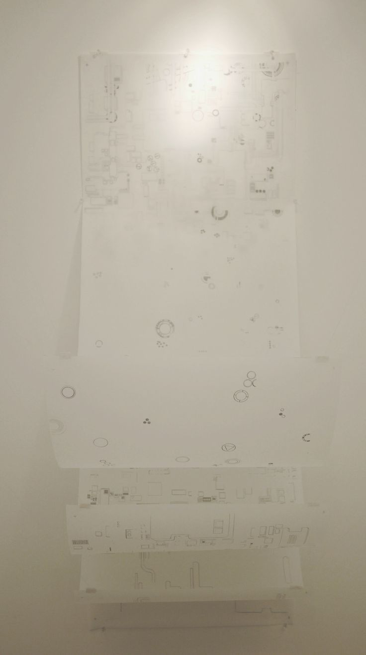 art installation by KC Tidemand four layers of pencil on mylar