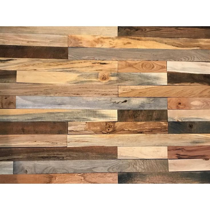 Shiplap Plank 0.5 in. H x 3.5 in. W x 12 in. 36 in. L Mixed Wood Wall Planks (20 sq. ft. / case)-PLANK-20-MIX - The Home Depot