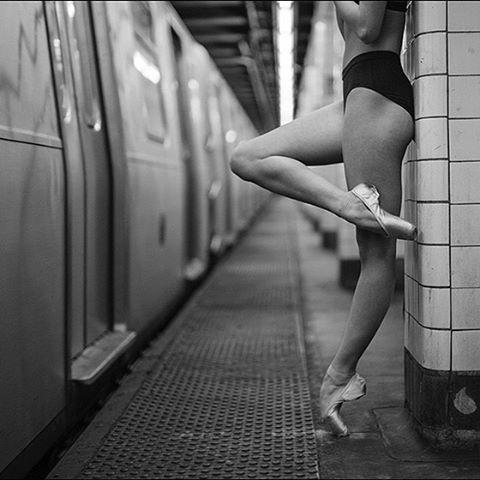 #Ballerina - @mikaelakellss in #Bushwick #Brooklyn #NewYorkCity #subway…