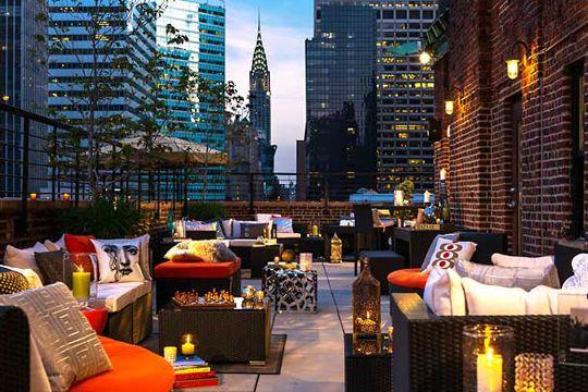 Rooftop Terrace At Renaissance New York Hotel 57 Manhattan Rooftopbar Newy