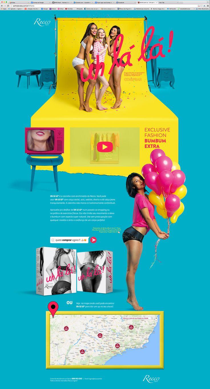 Hotsite Uh-la-la Recco (Bumbum Extra) on Behance