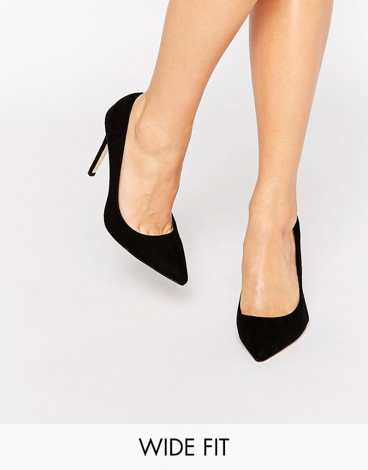 Image 1 of Faith Wide Fit Chloe Black Court Shoes