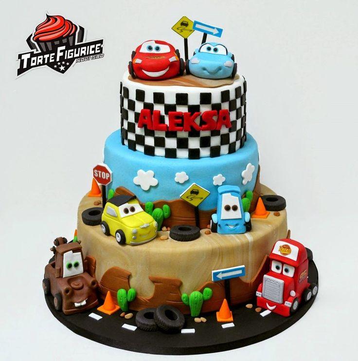 Torte i figurice Novi Sad (fondant cakes) : Munja Mekvin torte ( Cars torte )