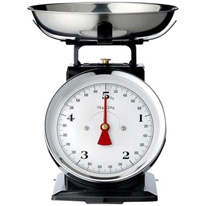 Black Kitchen Scale - Large. So nostalgic! Price was $89 and is now $69 in our Bloomingville sale.
