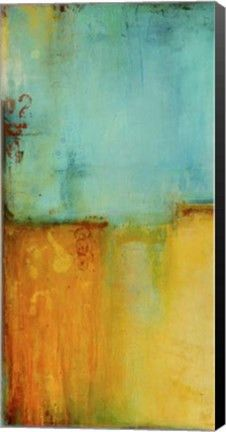 Pier 37 I Abstract Canvas Wall Art Print by Erin Ashley