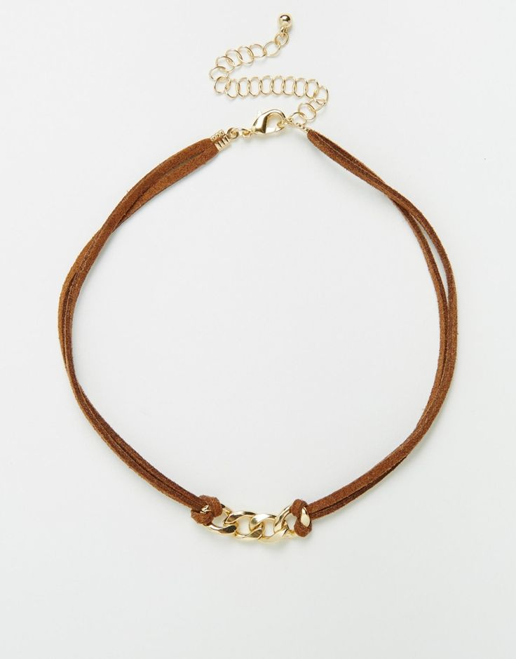 ASOS+Chain+Link+Suede+Choker+Necklace