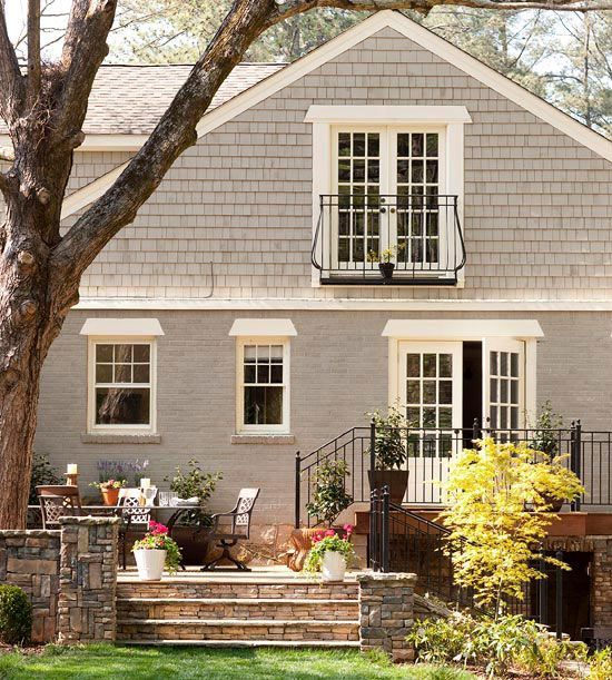1000 ideas about exterior gray paint on pinterest painted brick houses painted brick - B and q exterior paint property ...