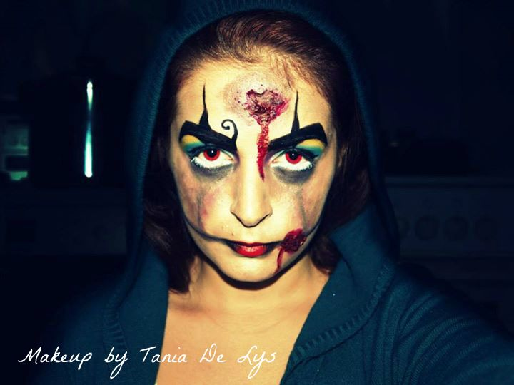 Zombie clown makeup
