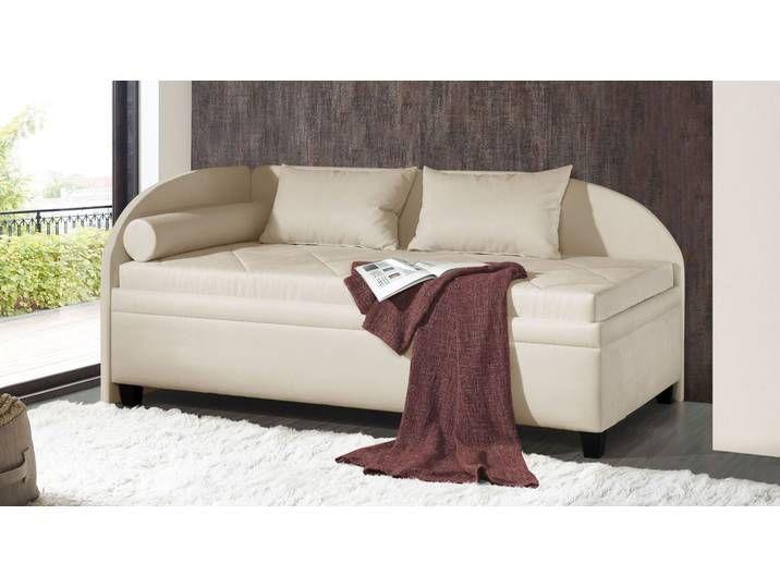 Bettkasten Studioliege In Orange 90x200 Cm Kamina Komfort