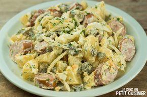 Salade allemande de pommes de terre aux saucisses (dite kartoffelsalat)
