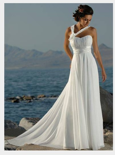 grecian wedding dress, without straps would be better