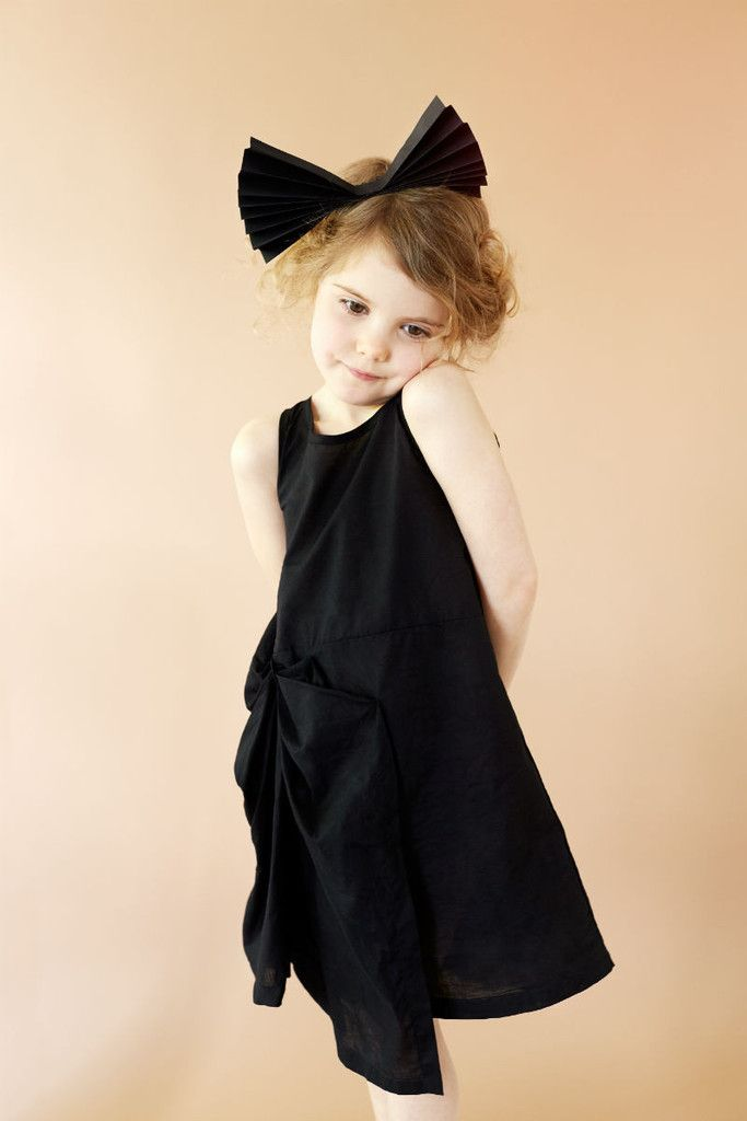 BOW DRESS BLACK