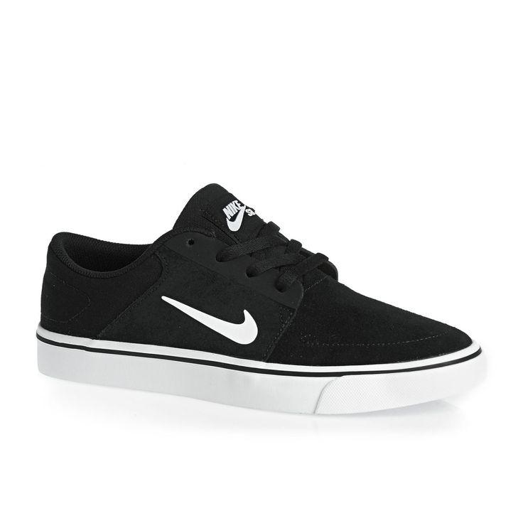 Nike Sb Zapato De Lona Portmore - Fondo Negro Y Blanco