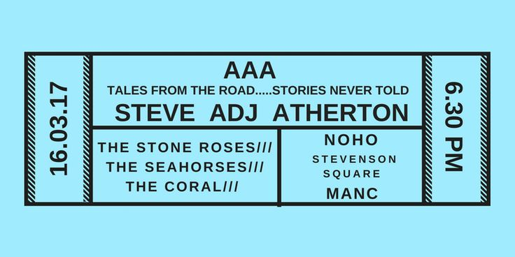 Tour manager to the Coral,The Seahorses & of course The Stone Roses - Q&A with Steve 'ADJ' Atherton on his new book 'Access All Areas'