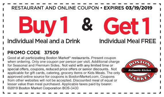 More About Boston Market Coupons