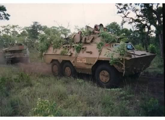 SADF Ratels & Olifant Tanks in Angola.