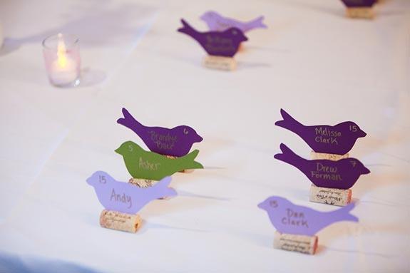 Purple Wedding Inspiration   Birdie Escort Cards