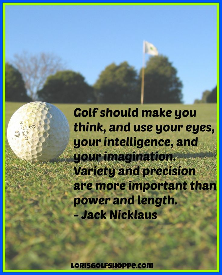 Yes, variety and precision, important indeed! #golf #quotes #lorisgolfshoppe