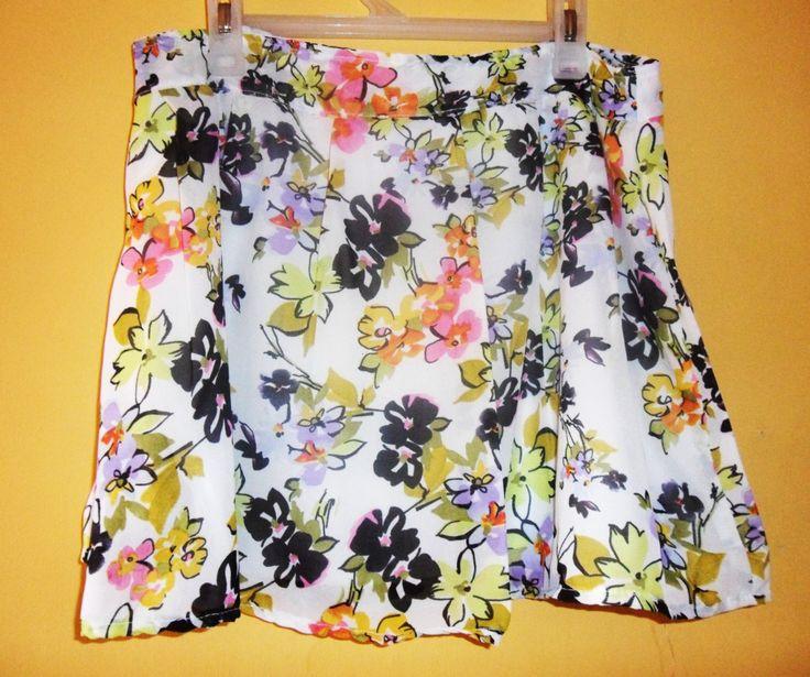 Skirt floral print (MAGNIFIQUE)