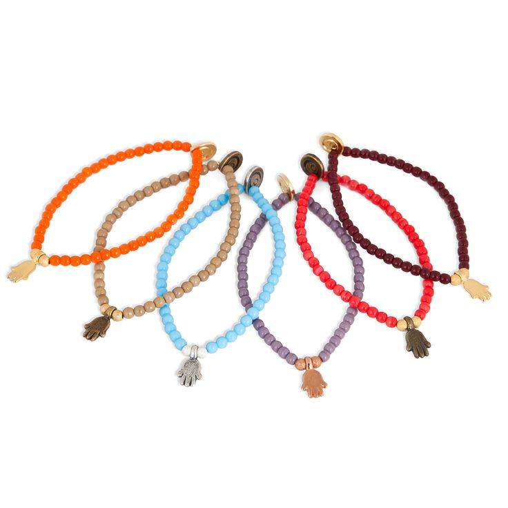 Dana Levy   Mini Hamsa Hand Glass Bead Bracelet
