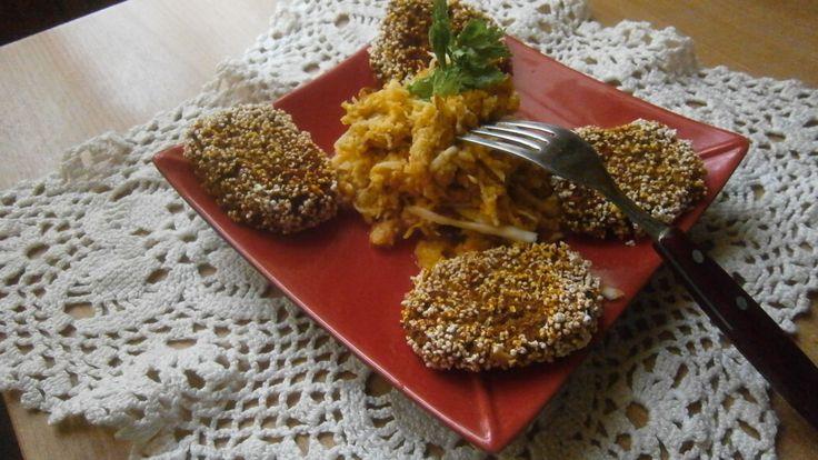 Alma-zeller saláta magfasírttal