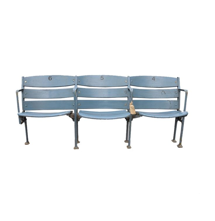 A Section Of Yankee Stadium Wooden Folding Seats No.6, No.5, No.4 From 1973...