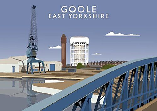 Goole, East Yorkshire (Day) Art Print (A3) Chequered Chicken https://www.amazon.co.uk/dp/B0742KRDQ2/ref=cm_sw_r_pi_dp_x_A6jCzbCTSA6P9