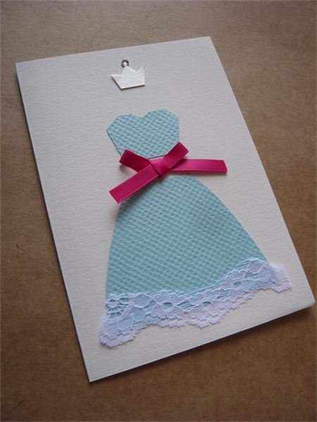 "Greeting card ""Princess"" - Blue"