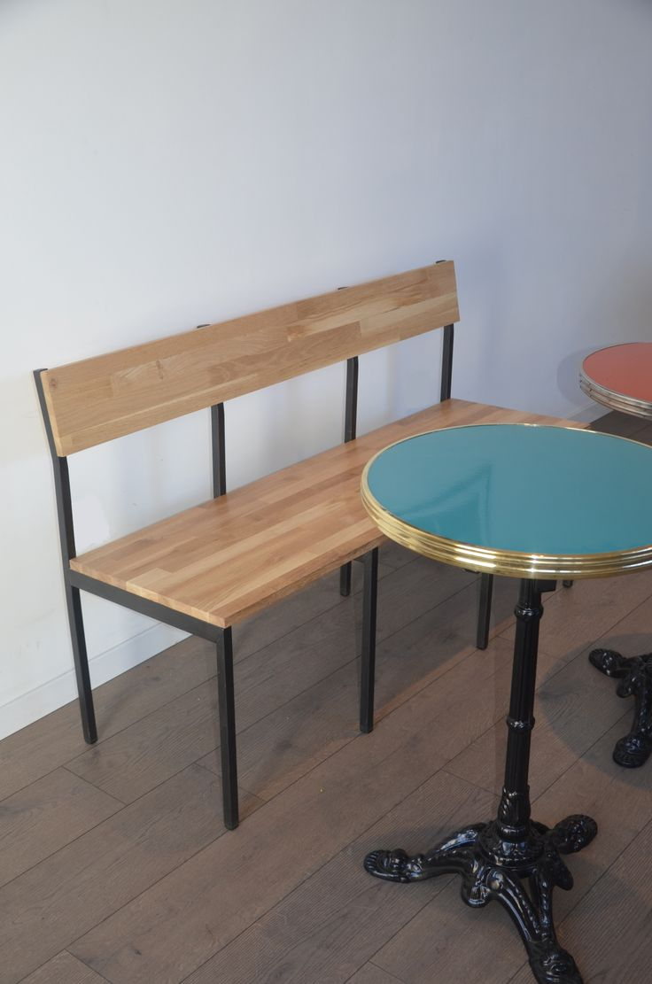 1000 ideas about banc bois on pinterest banc metal acier and poutrelle acier - Banc contemporain ...