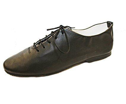 Classic Black Full Rubber Sole Jazz Shoes EU 25 UK Child 7