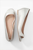 silver wedge shoes peep toe