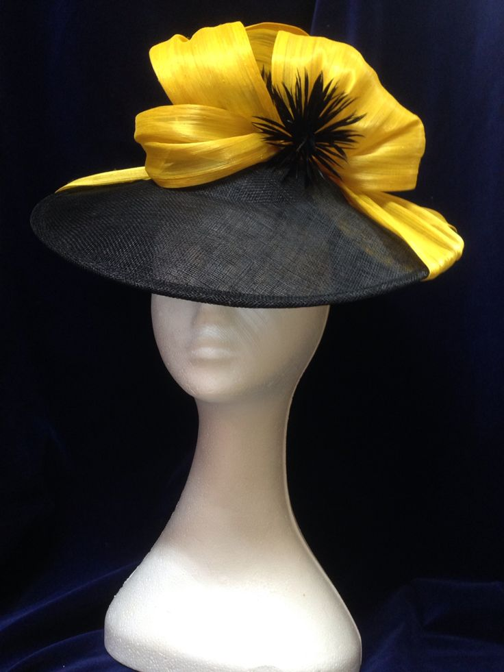 Yellow Ribbons headpiece by Melissa-Gaye Designs  #millinery#hats#fashionsonthefield#melbournecup
