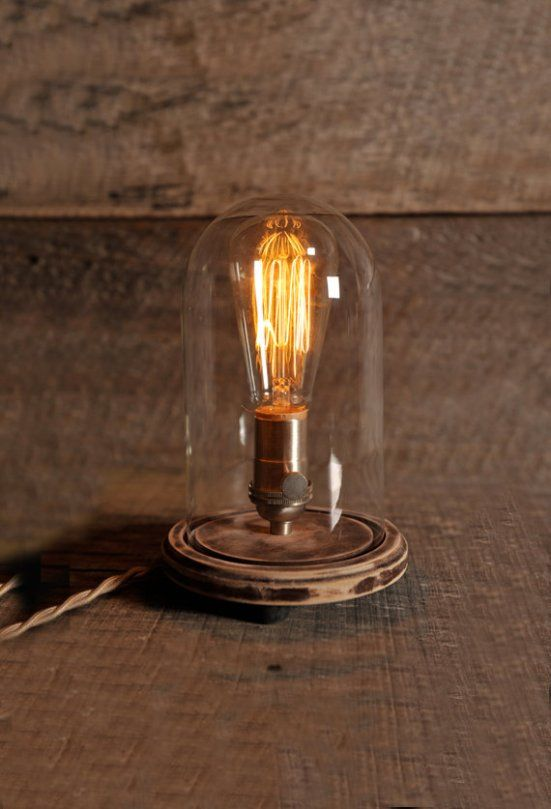 DIY Cloche Table Lamp or using a bell jar