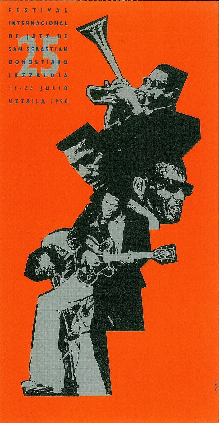 San Sebastian's Jazz Festival poster 1990