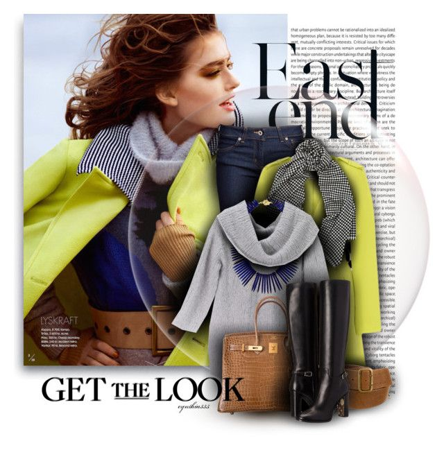 """""""Get the Look"""" by cynthia335 ❤ liked on Polyvore featuring Olsson, Naked & Famous, Mercy Delta, Donna Karan, Janna Conner, Alexander McQueen, Hermès and Burberry"""