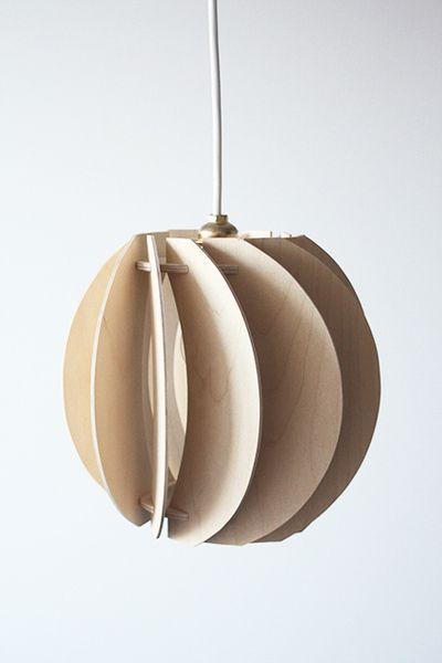 "HOLZLAMPE ""PAPOULA"" von SEAN lamps auf DaWanda.com"
