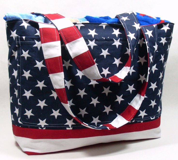 Thisfun design willbring out your Patriotic side and love for the American Flag. Thisbeach tote is a great way to show your love for red, white, and blue all year round. Find it at jayciMay!