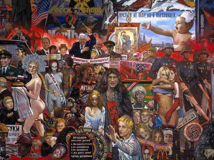 Илья  Глазунов.  Рынок  нашей  демократии.  Безумие  90-х.