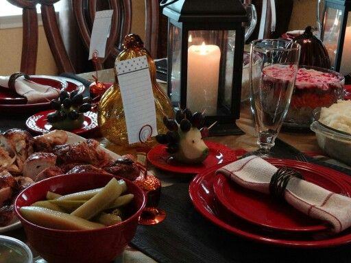 Thanksgiving /harvest  table setting. ..