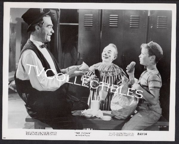 8x10 Photo~ THE CLOWN ~1960 ~Red Skelton ~child actor Tim Considine ~1611-109