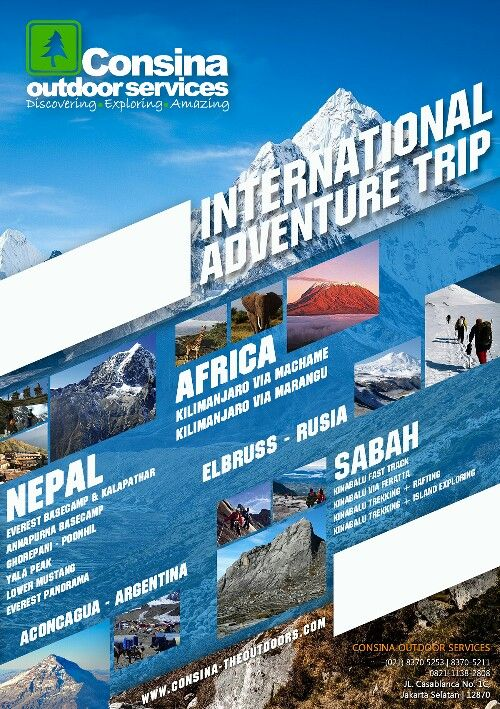 Consina Outdoor Services - International Adventure Trip
