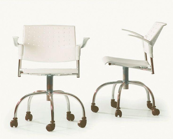 Cadeira de Escritório Giratória com Braço Movie Branca