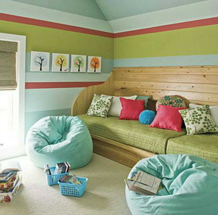great idea re the twin mattresses i also love the tree pictures on the wall love to display kidmade art in a kids room two twin mattresses some plywood
