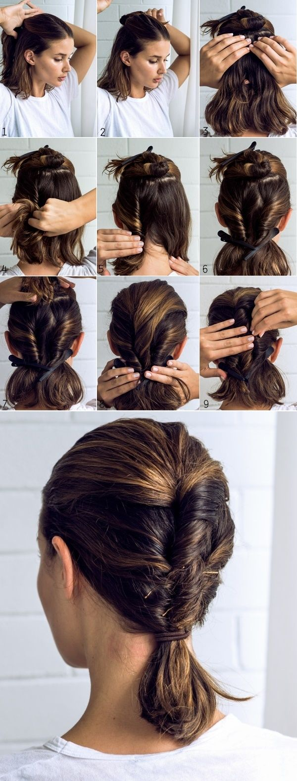 Looking for a new way to wear your collarbone length bob this spring? How about this twisted braid ? To me it looks like the loveliest ev...