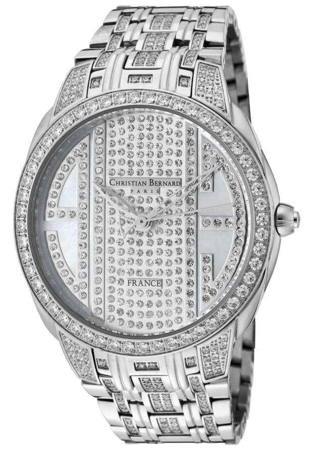 Price:$299.00 #watches Christian Bernard NA342ZZWW, A touch of modernity combined with a parisian jewellery style