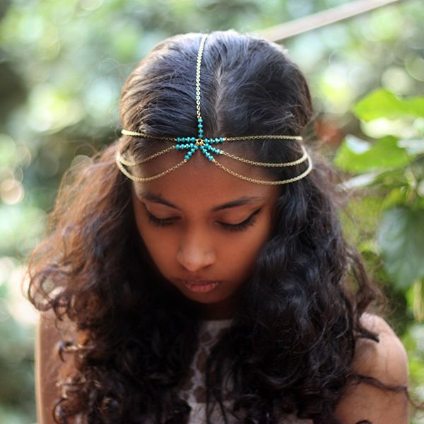 Handcrafted Head Chains by Pigtails and Ponys- Maia