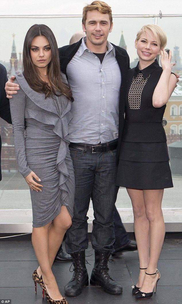 "Michelle Williams and Mila Kunis and James Franco appeared in good spirits at a photocall for ""Oz: The Great And Powerful"", February 2013."